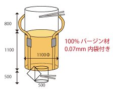 レコンバックF 1t 0.07mm内袋 バージン材