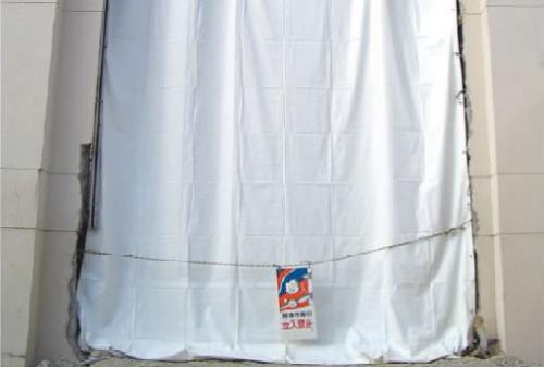 萩原工業 ホワイト防炎シート 5.4×7.2m(2枚)