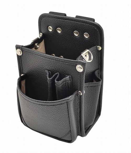 マルキン印 内側ポケット/レザー腰袋 BⅡ黒