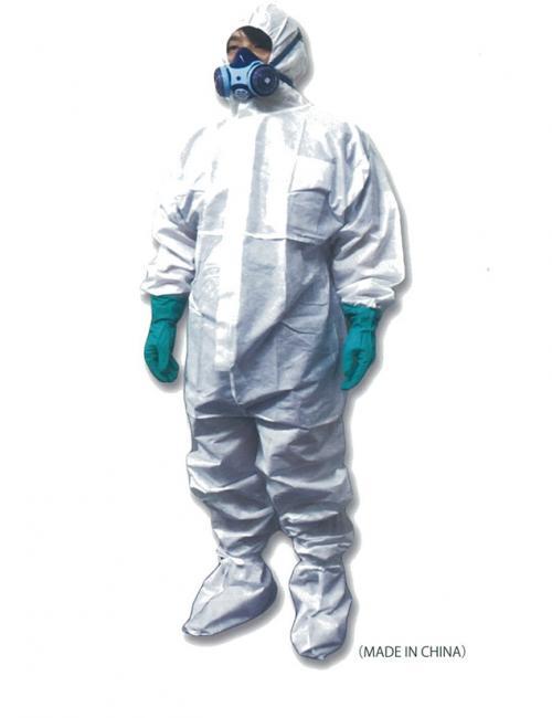 密閉型 防護服 シューズカバー付き(使い捨て) JIST8115 適合品