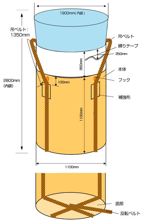 内袋付フレキシブルコンテナバッグ・0.07mm(10枚)