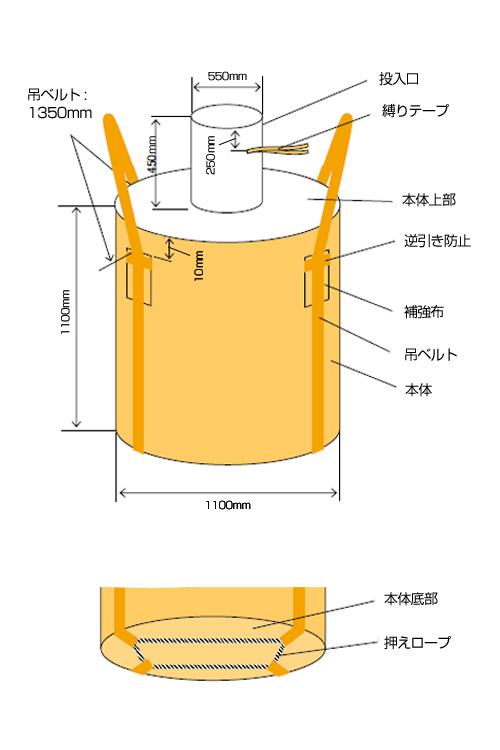 フレキシブルコンテナバッグ・Cタイプ(100枚)