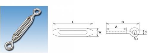 枠式ターンバックル(アイ&アイ) 80mm (20個)