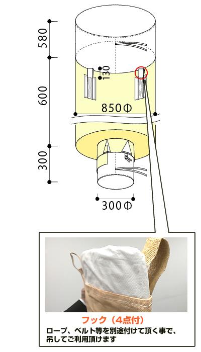 フレキシブルコンテナバッグF 500kg(反転なし・UVあり)20枚