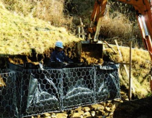 カゴ土のう W1000×D1000×H1000mm(10基)