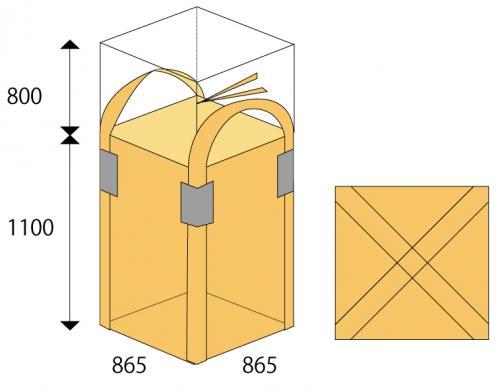 角型フレキシブルコンテナバッグ1t バージン材 865×1100 100枚