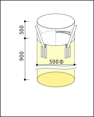 フレキシブルコンテナバッグA 小型300kg(反転なし・UVあり)20枚