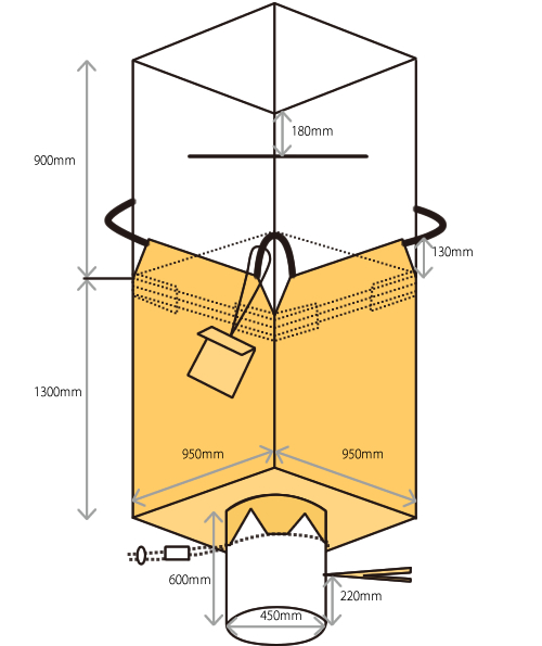 米・麦・農業用 フレキシブルコンテナバッグ1t 食品衛生法適合 (10枚)