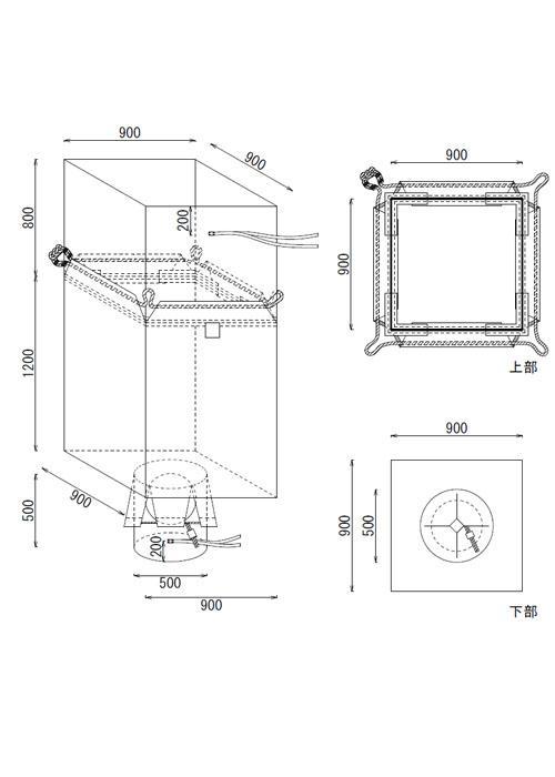 米・麦・農業用Fタイプ 角型 ロープタイプ 食品衛生法適合 フレキシブルコンテナバッグ (10枚)