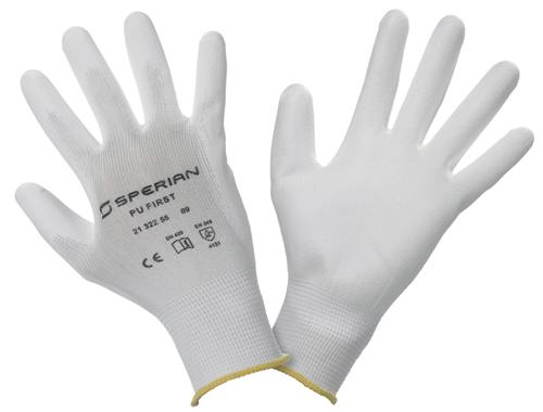 一般作業用手袋 PUファースト・ホワイト (10ペア)
