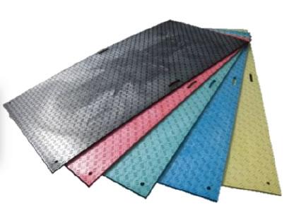 養生用敷板 Wボード(片面凸) 3×6サイズ (黒)