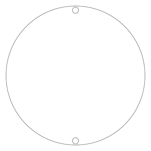 道路標識板 道路400 無地 400mm丸×1mm(1枚)