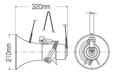 ショルダー型マイク メガホン-208 (1台)