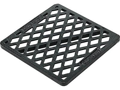 集水マスフタ #300鋳鉄格子フタ  ブラック  10個